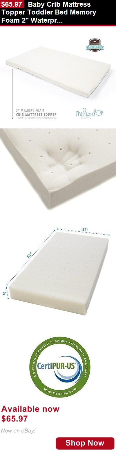 Crib Mattresses Baby Mattress Topper Toddler Bed Memory Foam 2 Waterproof Cover It