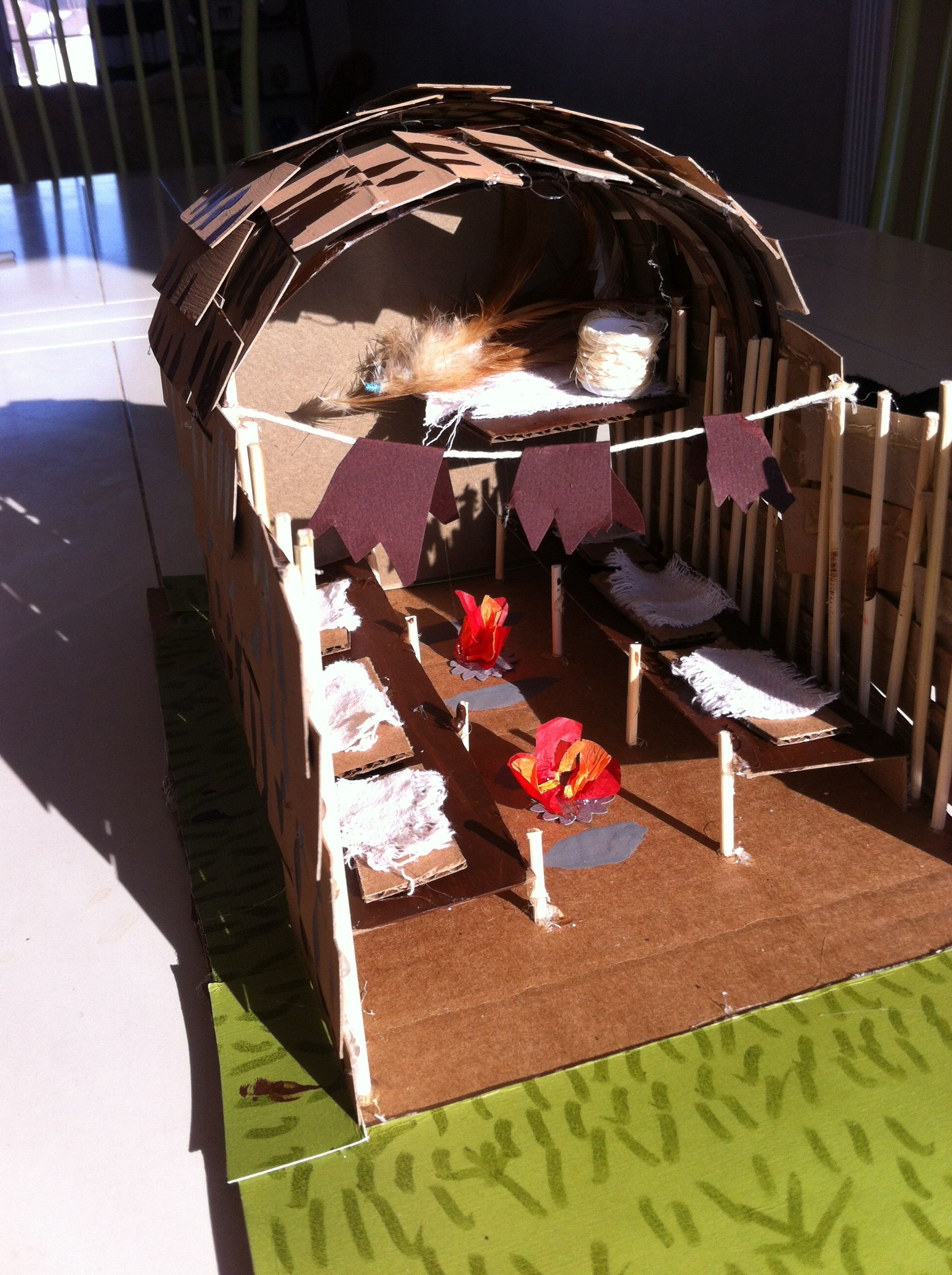 Cross Section Of An Iroquois Longhouse For Fifth Grade