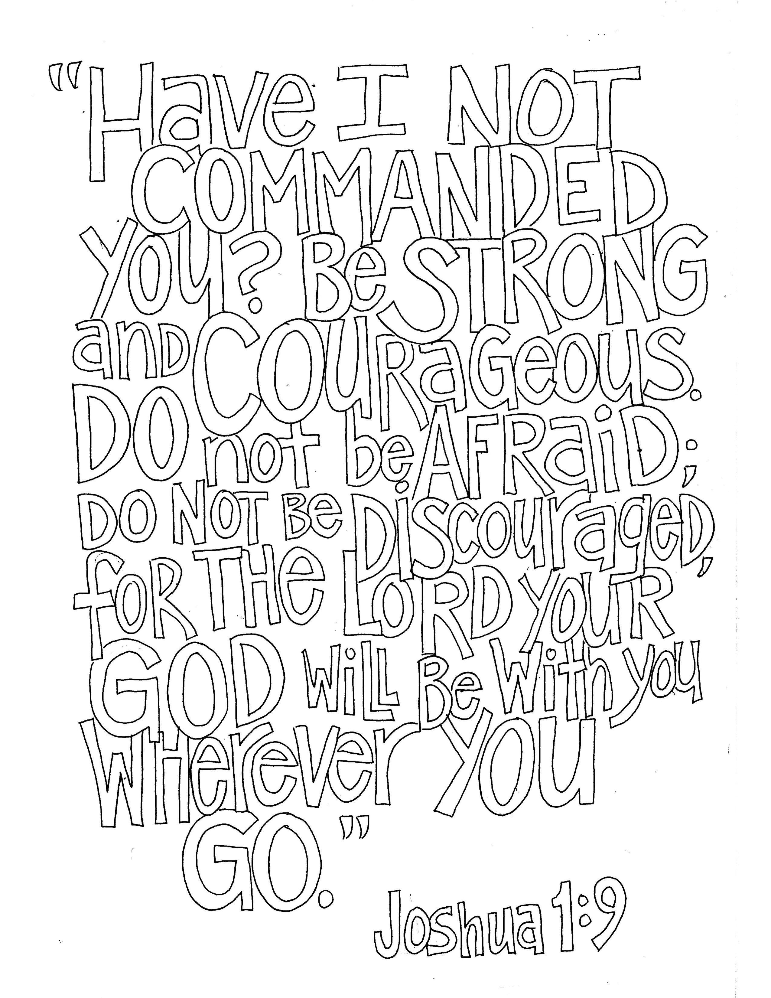 Joshua 1 9 Bible Verse Memorization Pinterest Sunday School