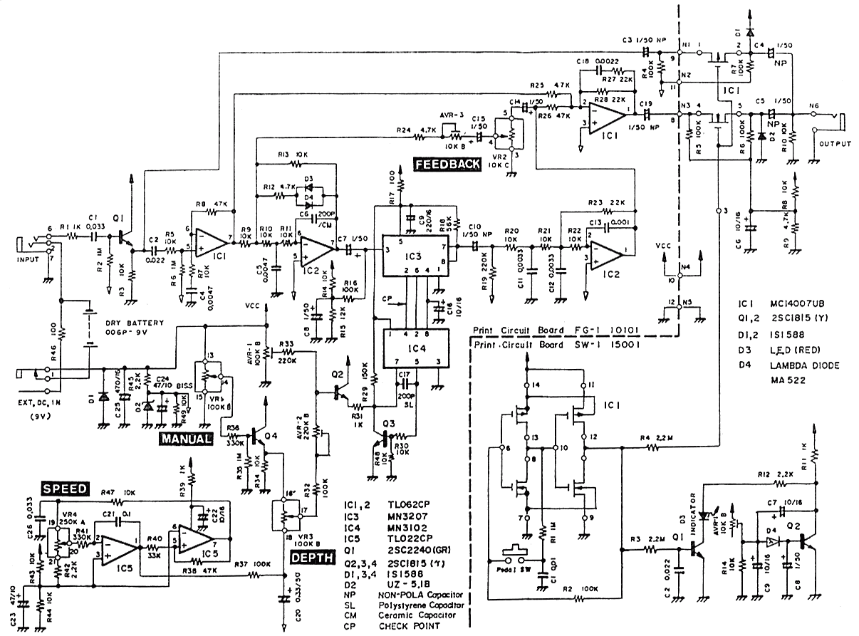 Schematic Diagram Of Pearl Fg 01 Flanger