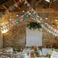 A charming festival diy style barn wedding with pastel bunting