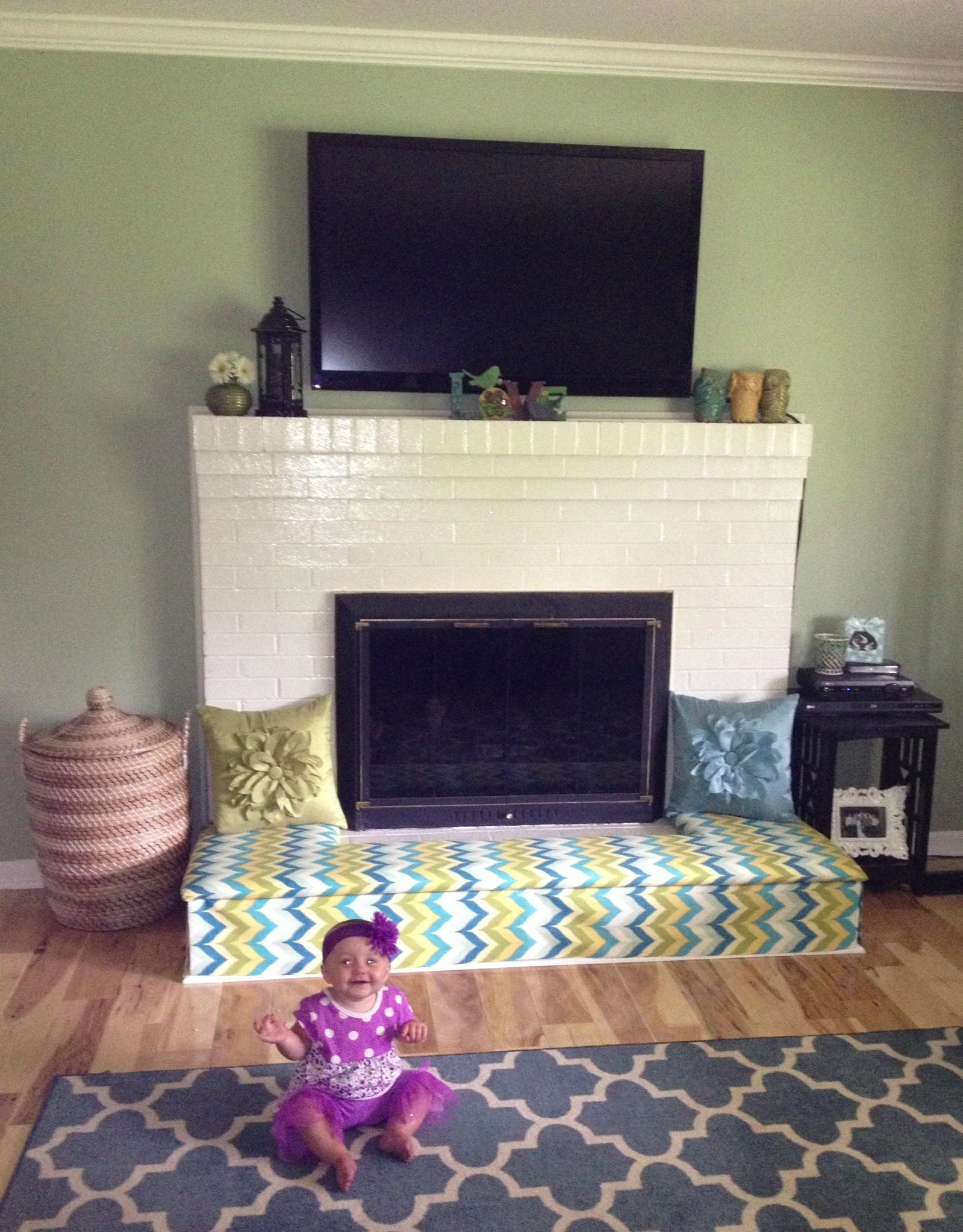 Baby Proofing Fireplace Diy Fireplace Bench Cut Plywood