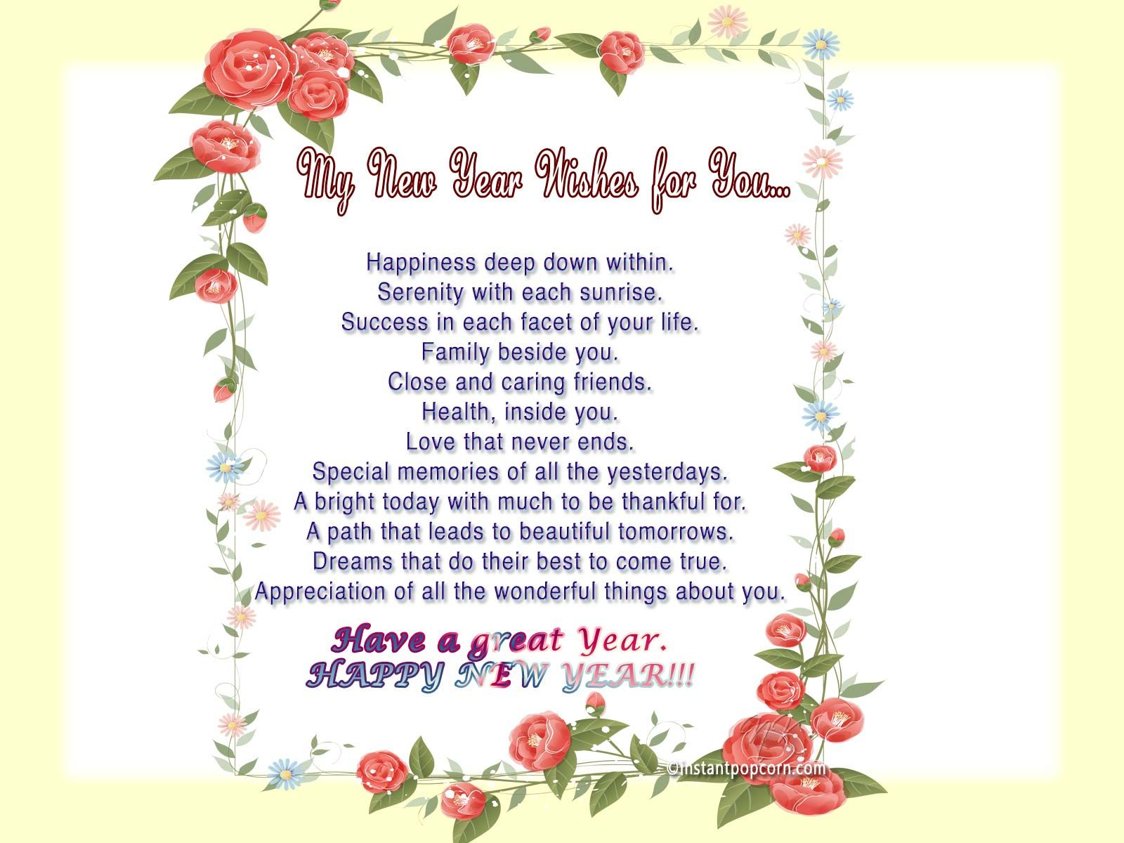 Poem New Year Quotes – Merry Christmas And Happy New Year 2018