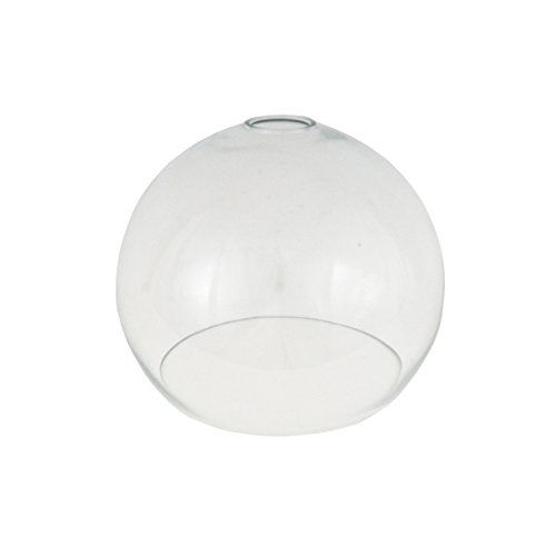 Clear Open Globe Glass Light Shade 250mm For Pendant Lighting Replacement Lampshade