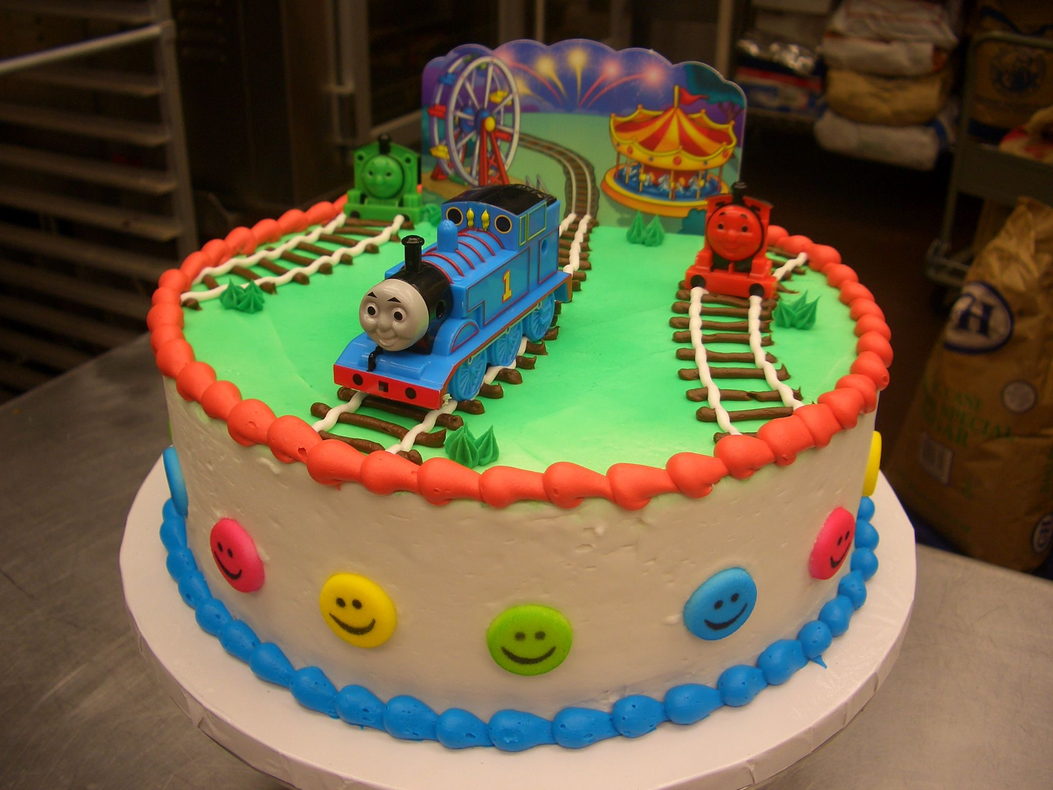 Thomas The Train Cake Idea For Chayton S Birthday