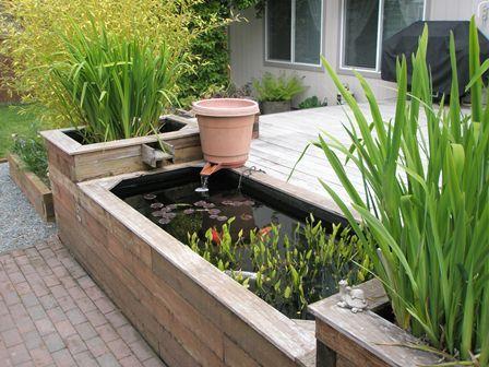 raised koi pond garden Pond Ideas on Pinterest | Raised Pond, Ponds and Water Garden