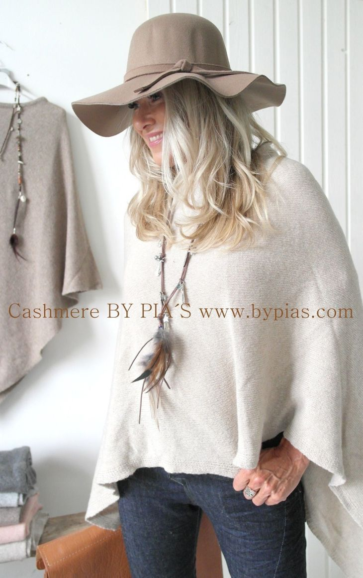 Cashmere Poncho OFF WHITE Clothing Pinterest Cashmere poncho