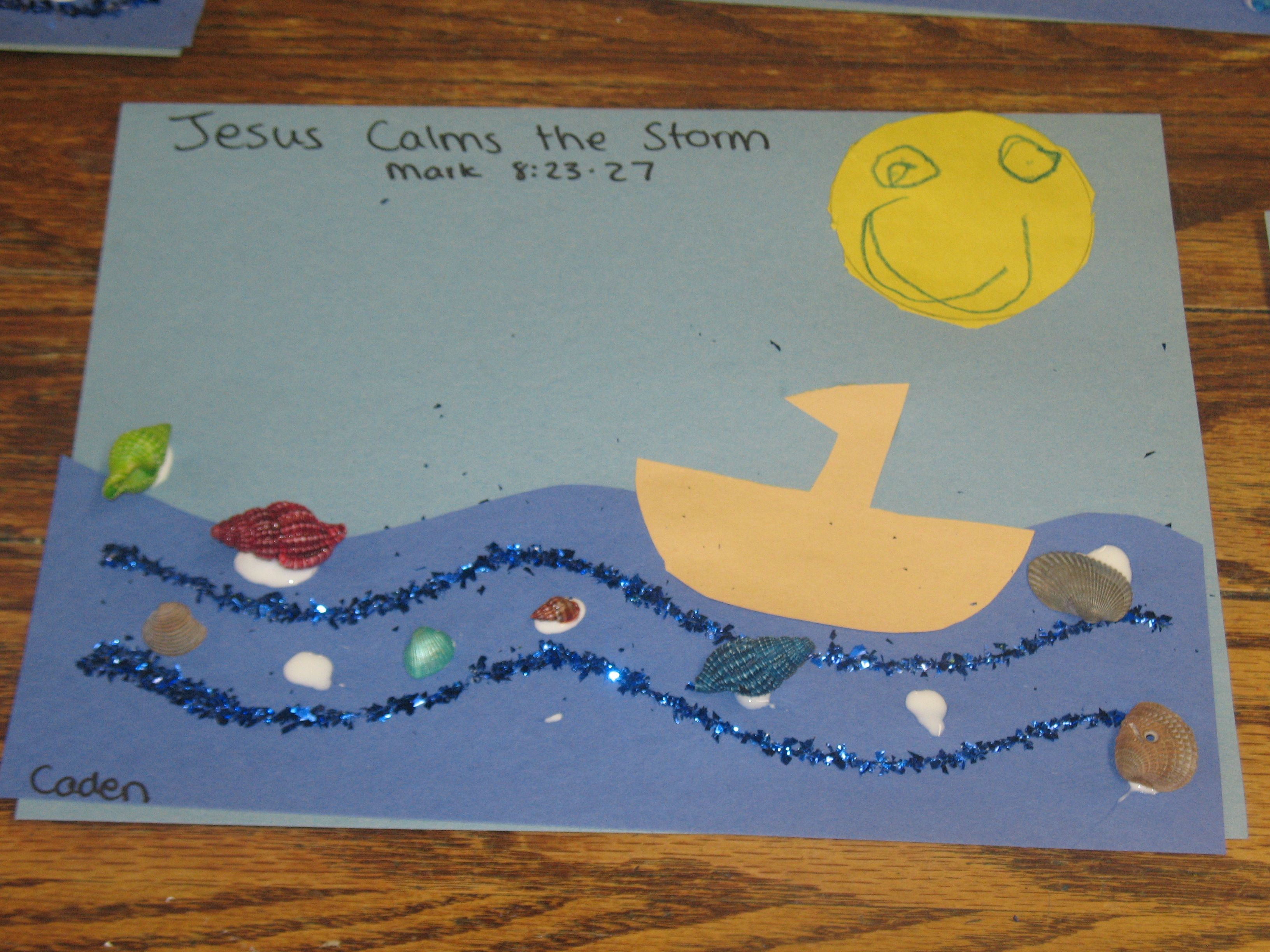 Jesus Calms The Storm Craft Activity We Did This With Our 2 4 Yr Olds