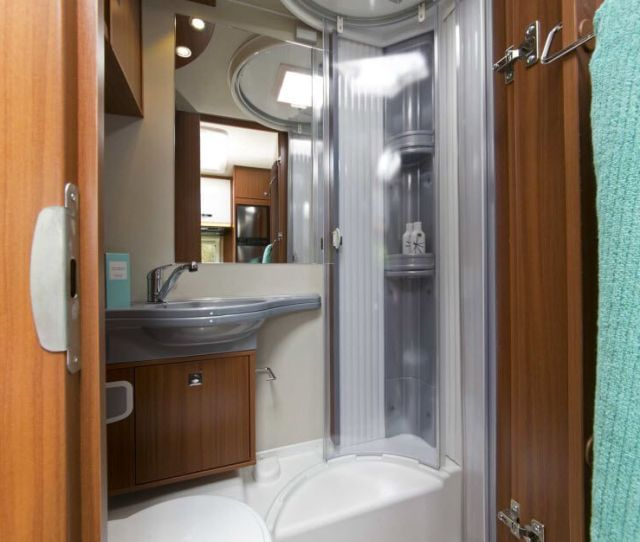 Inside The Carado T European Motorhome For Saleious Shower And Toilet Feel Free
