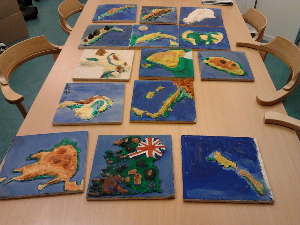 Gorgeous Topographic Maps By Language Students In Salt Dough