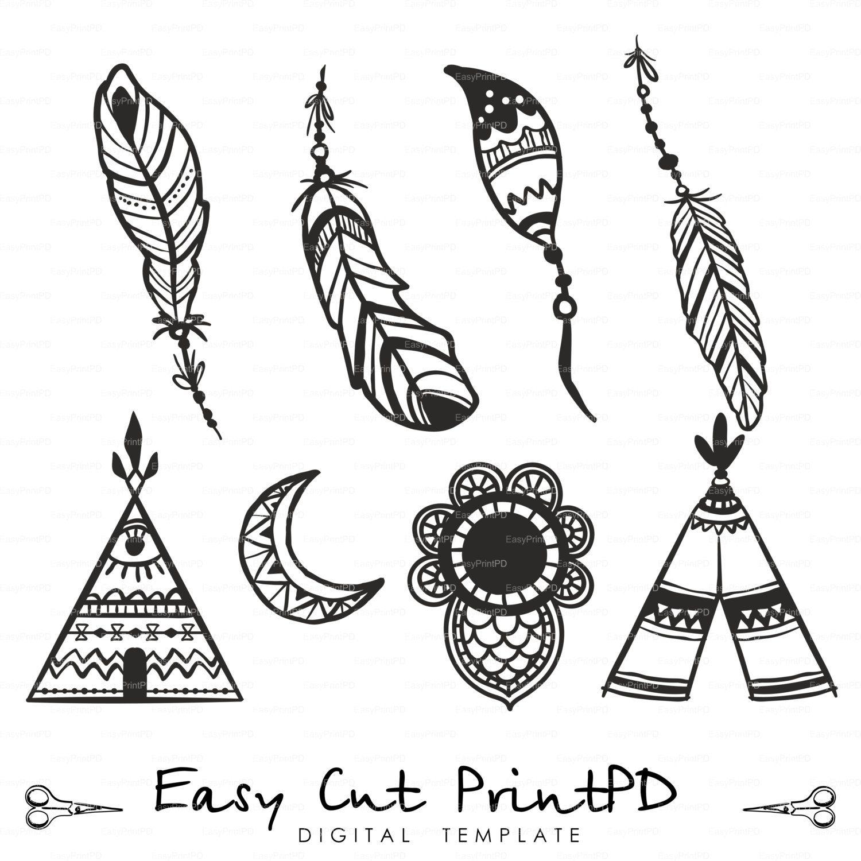 Amazing Feathers Plume Eps Svg Dxf Ai Creative