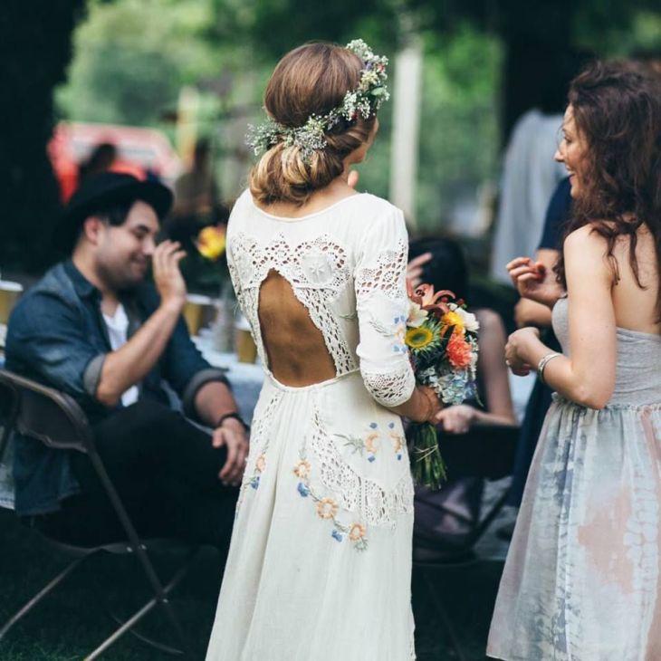 LOVE this embroidered wedding dress My wedding day Pinterest