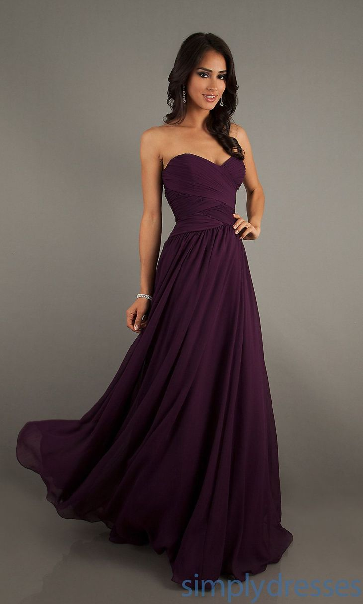 ML Strapless Sweetheart Floor Length Gown Homecoming