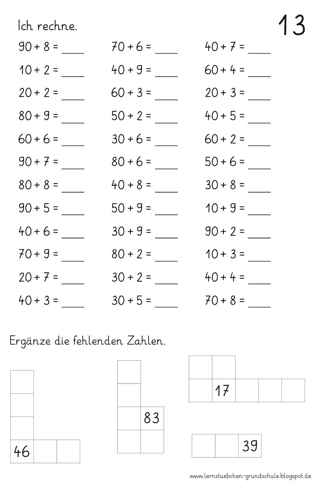 16 Ab Rechnen Mit Zz Und Hundertertafel 13