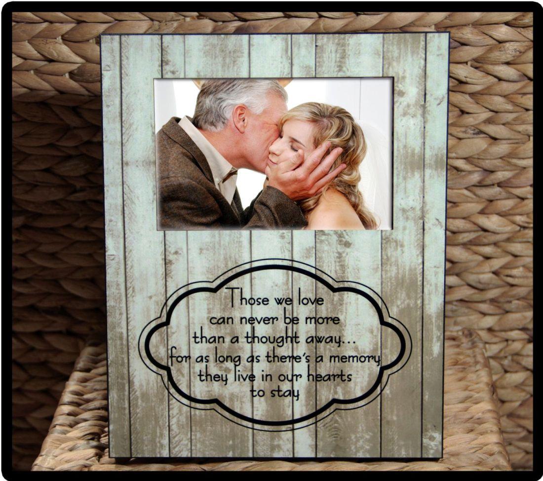 Custom photo frame sympathy gift condolence gift father