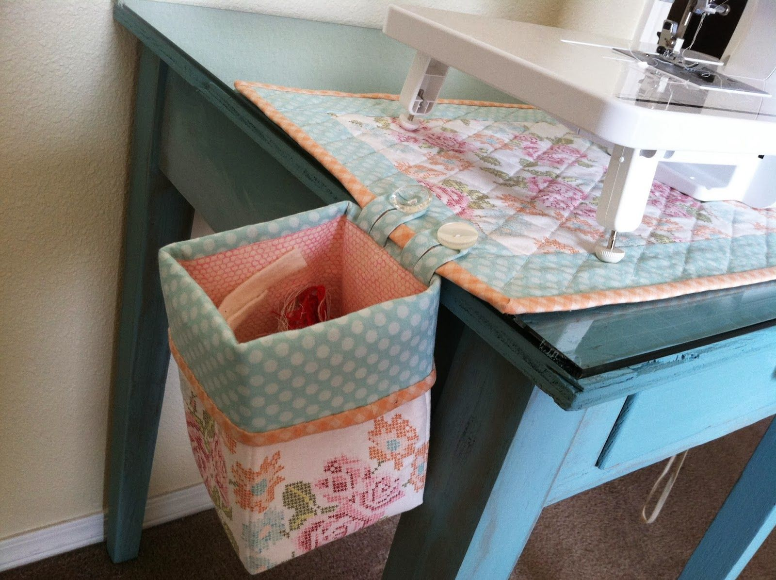 Attached Trash Bin For Sewing SewingCraft Room