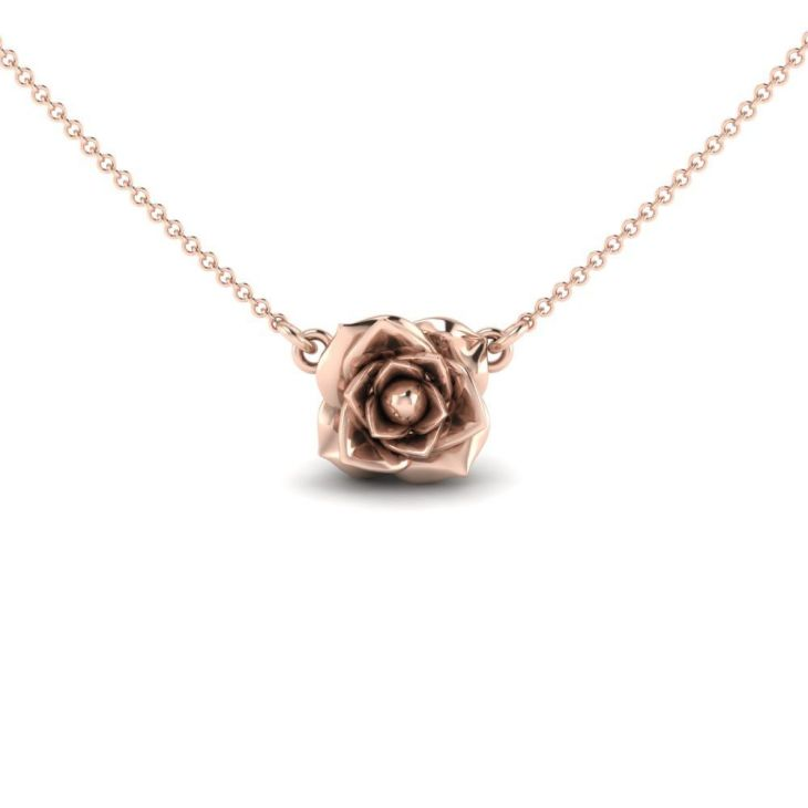 We love how this delicate Rose Blossom sits at the base of the