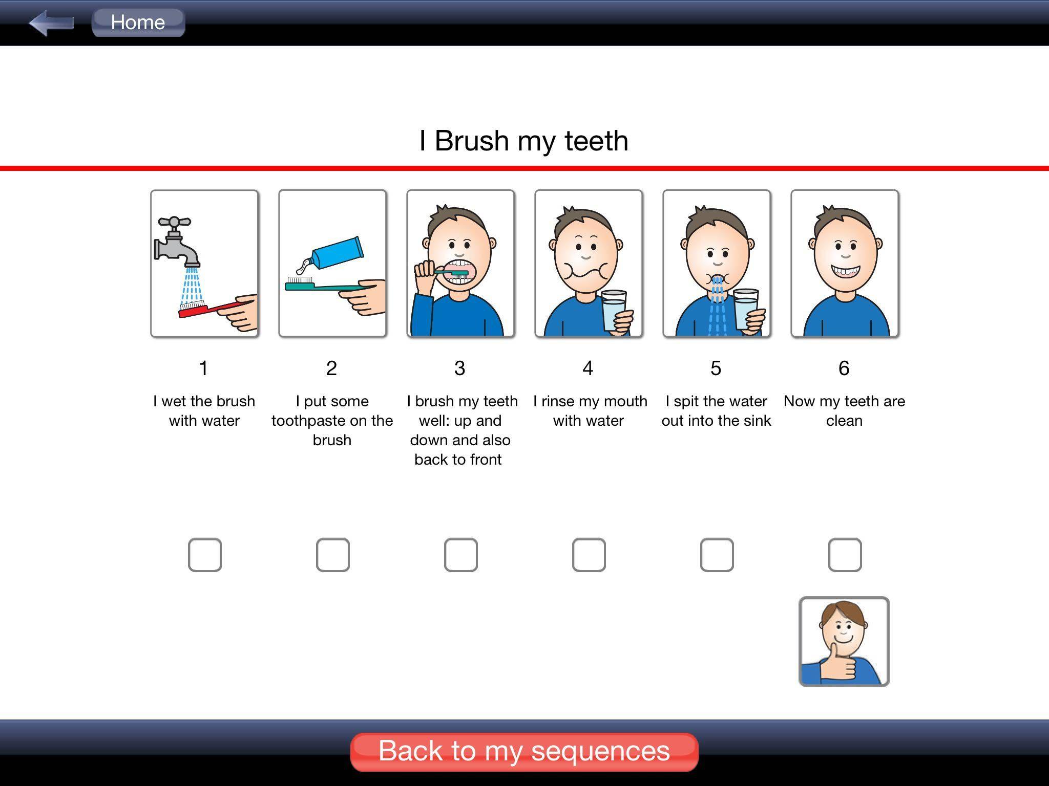 My Life Skills Box I Brush My Teeth Sequence