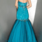 Privada prom dress teal black and silver prom dress size