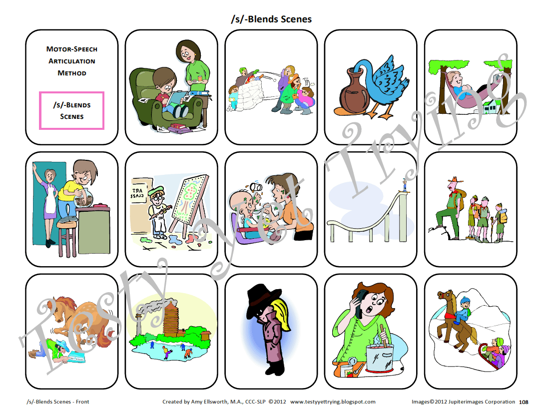 Picture Scenes For Speech Therapy