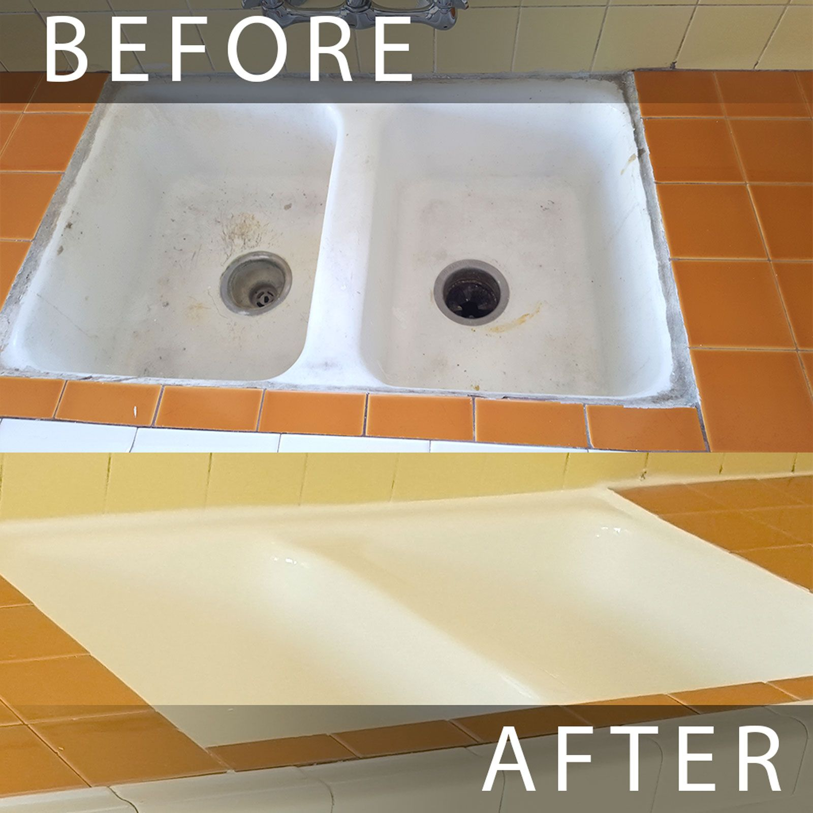 Best Kitchen Gallery: Kitchen Sink Reglazing Los Angeles Before And After Sink Reglazed of Reglazing Kitchen Sinks on rachelxblog.com