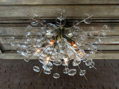 Bubbles Glass Ceiling Light Sconce Brass