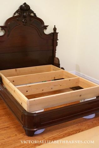 Retroing Our Craigslist Bed Diy Custom Antique Frame