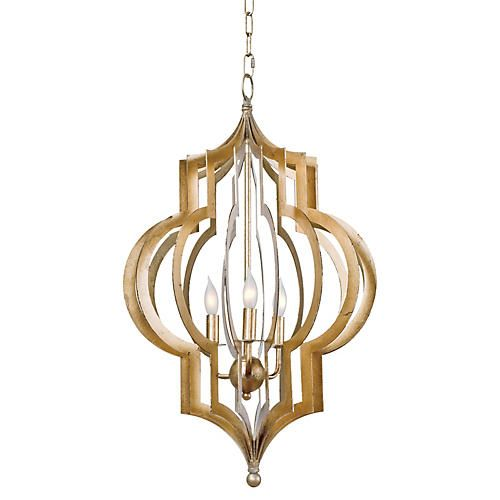 Pattern Makers Chandelier Gold