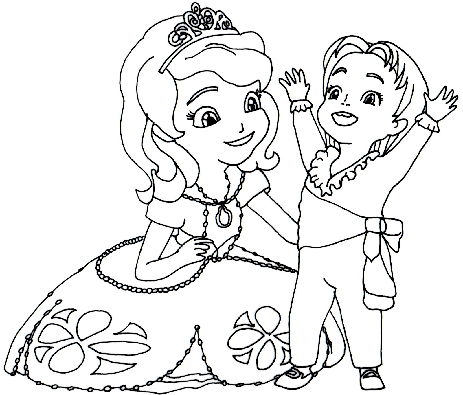 Etonnant Sofia The First Coloring Pages To Print Disney On
