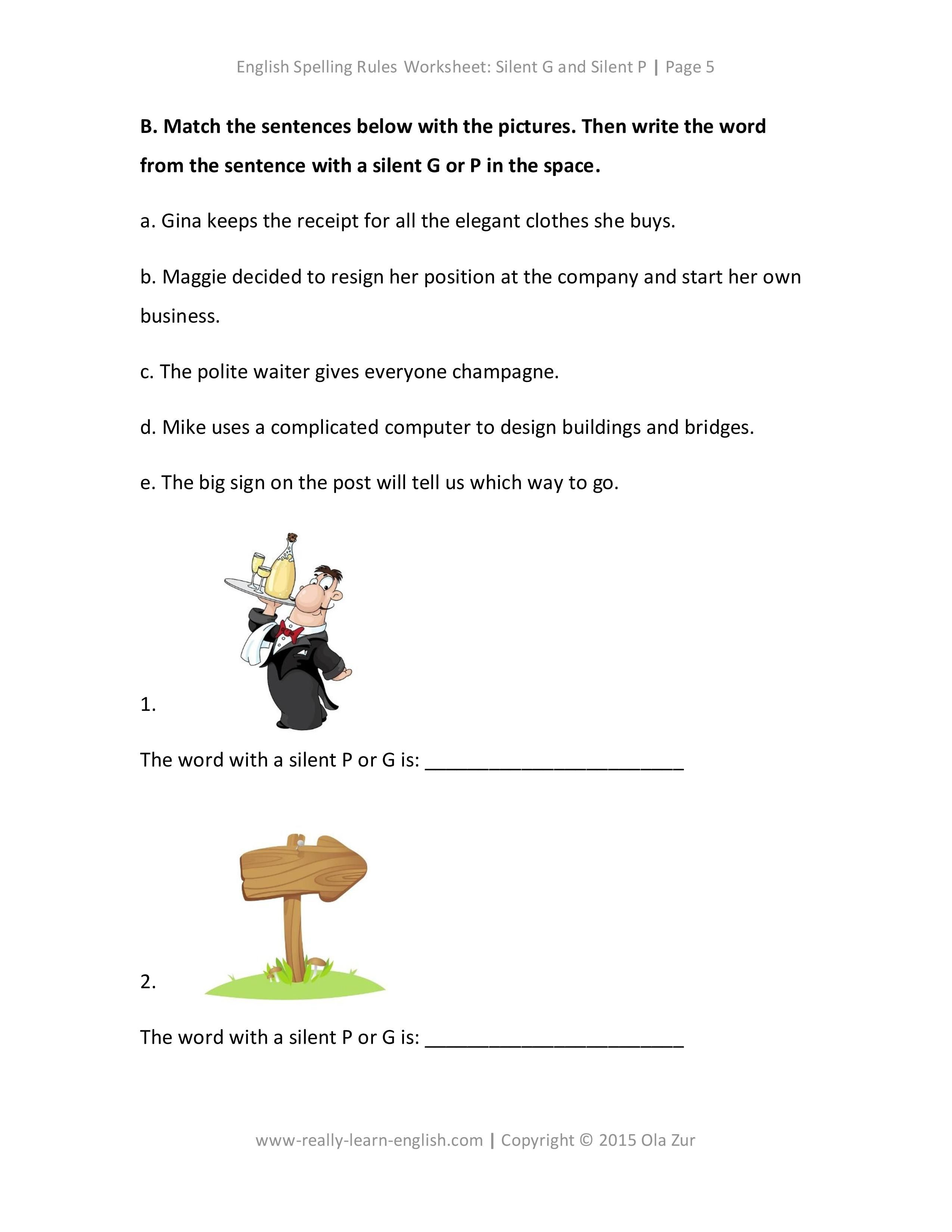 Free Printable Worksheets To Practice English Spelling Rules For Esl Students