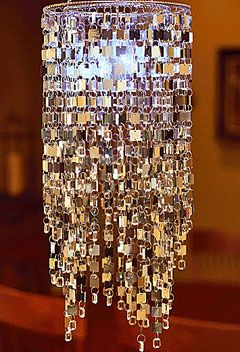 Battery Operated Outdoor Chandelier Silver Shimmer Hanging