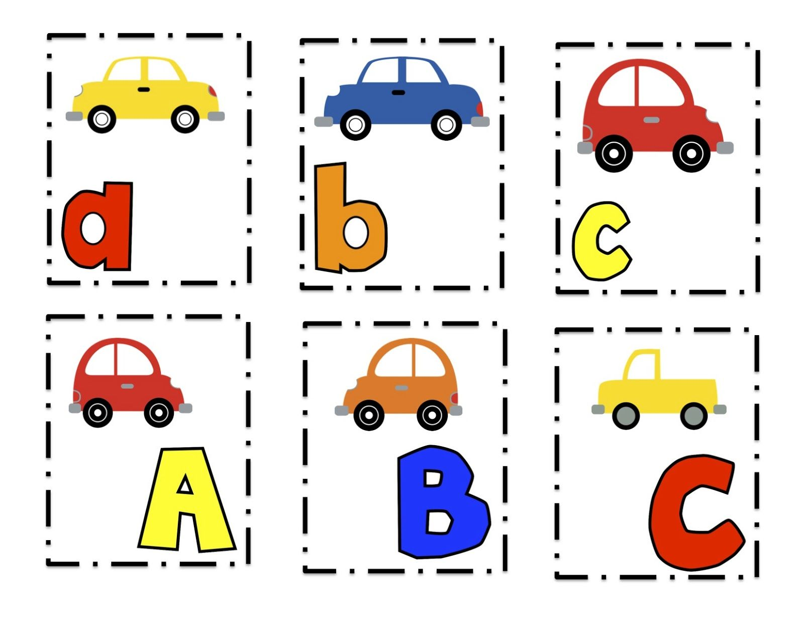 Car Matching Worksheet Preschool