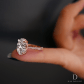 Chelsea rose pink is a handcrafted jean dousset diamonds solitaire