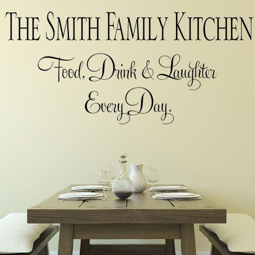kitchen wall decals family kitchen eat drink on wall stickers for kitchen id=98358