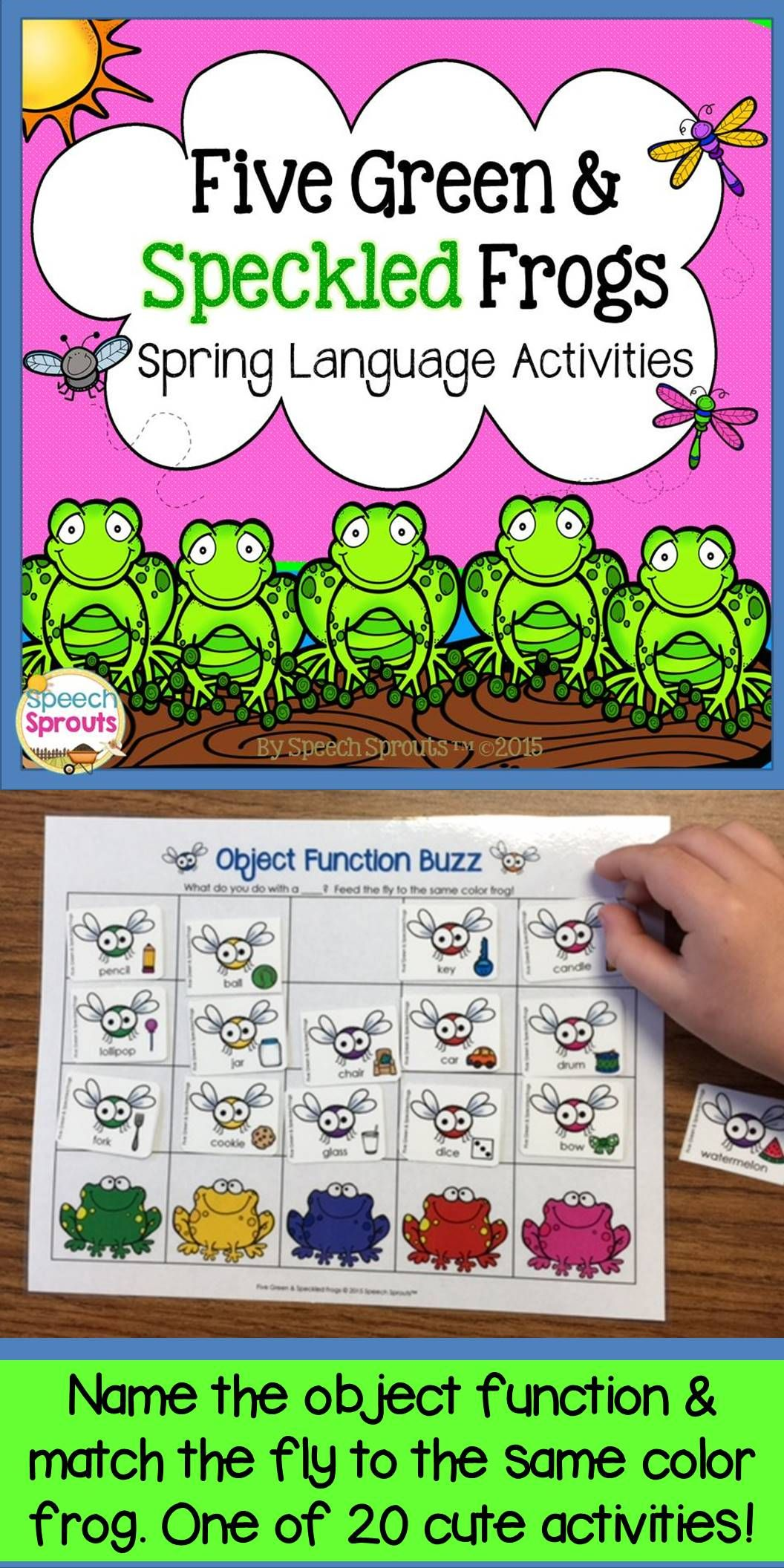 Five Green And Speckled Frogs Spring Speech Therapy