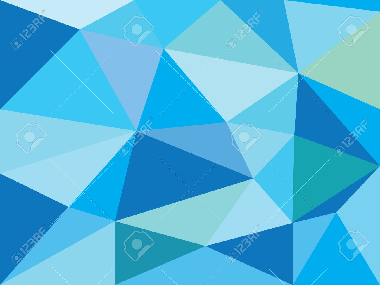Simple Blue Abstract Prism Background Stock