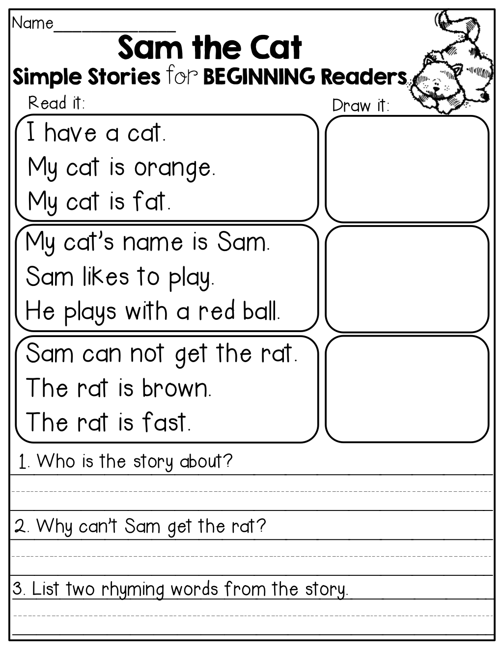 Simple Stories For Beginning Readers I Love The