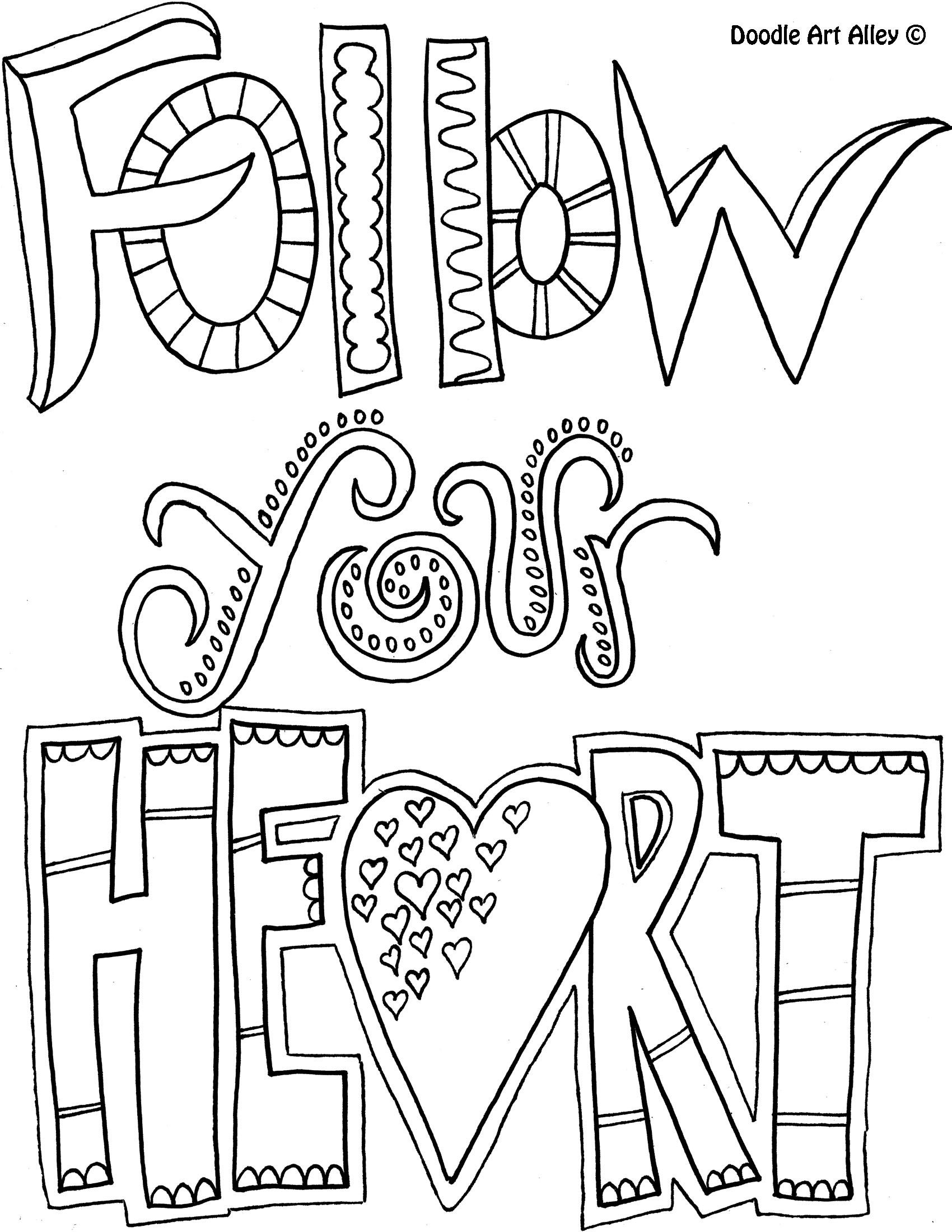 Followyourheart Crafts Coloring And Sayings Pinterest