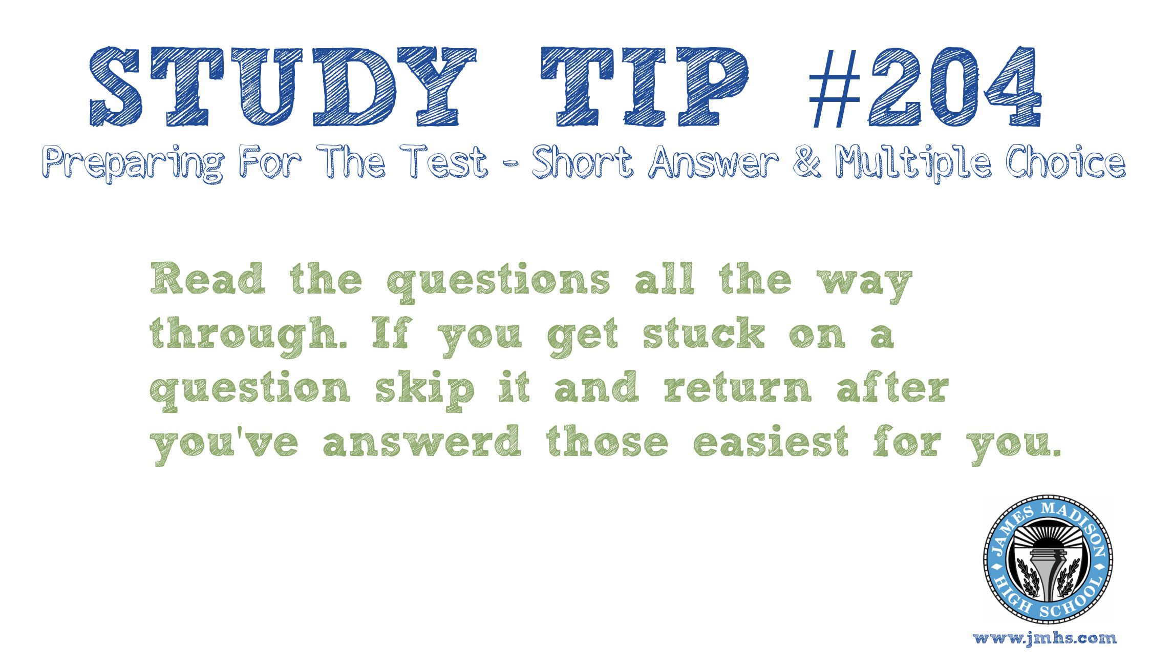 Online High School Study Tip 204
