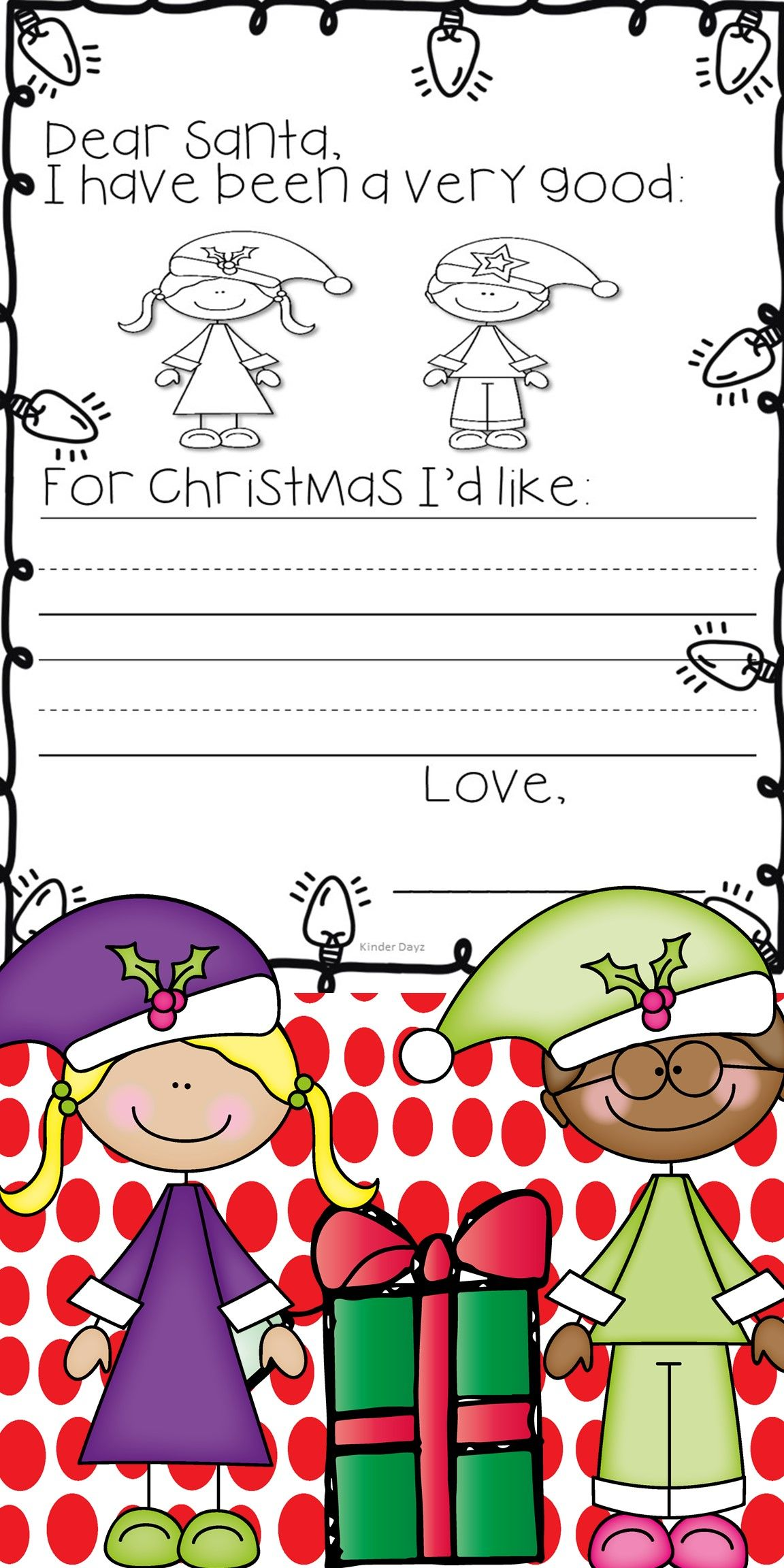 Festive Freebie Rfect For Pre K Kindergarten Or First
