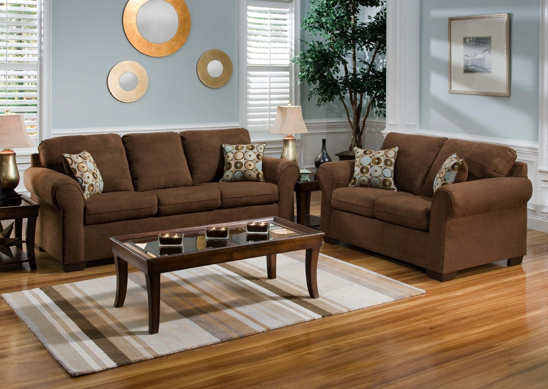 living room, warm living room color schemes with chocolate brown