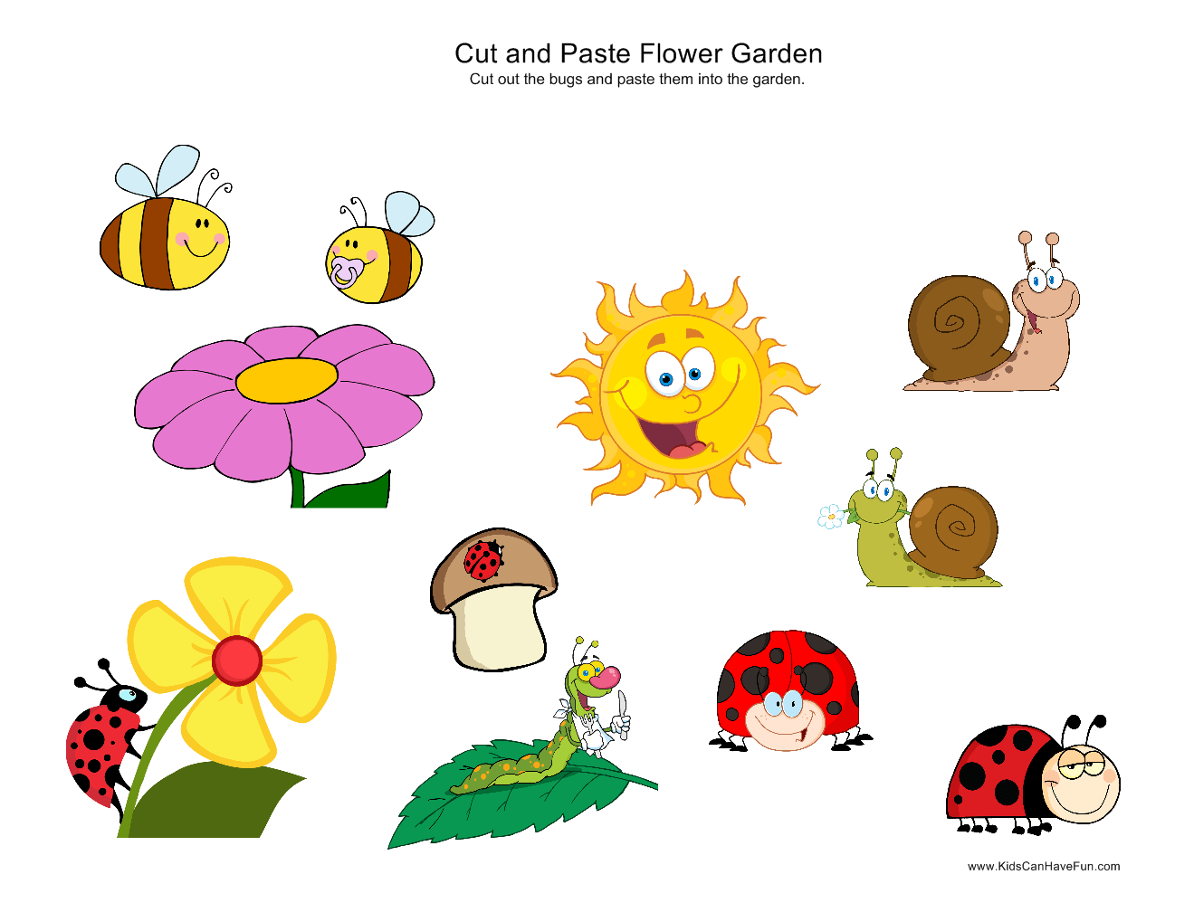 Cut And Paste Bug Garden