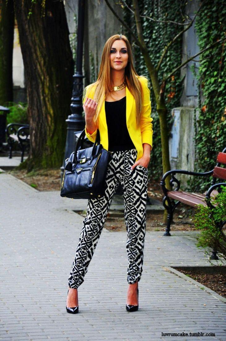 Foto Pinterest moda Pinterest Yellow blazer Blazers and Clothes