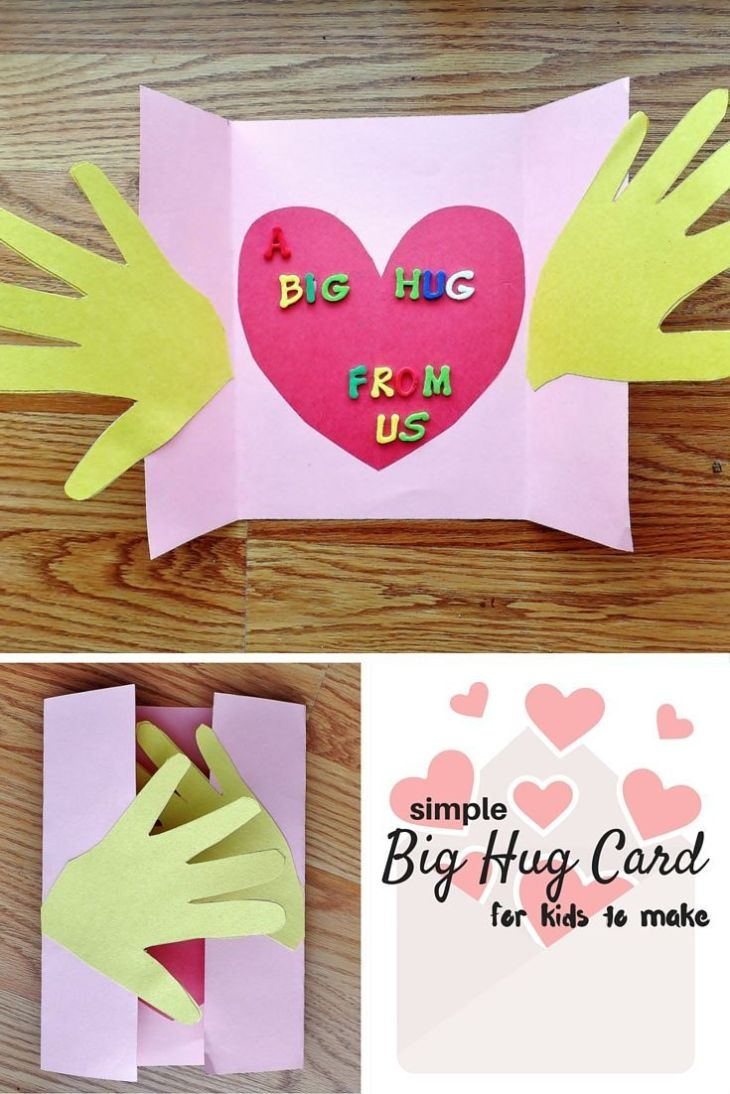 A Big Hug Card craft for kids simple card to show they care about