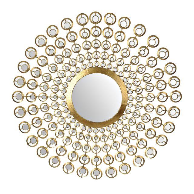 Gold Mirrored Sunburst Mirror
