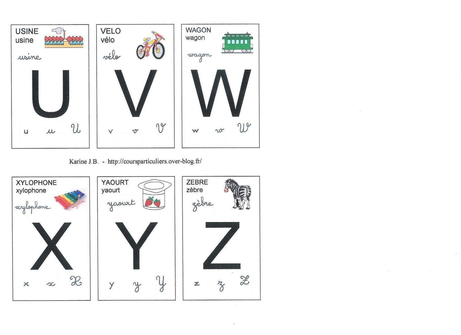 Lettres Cartes De U A Z