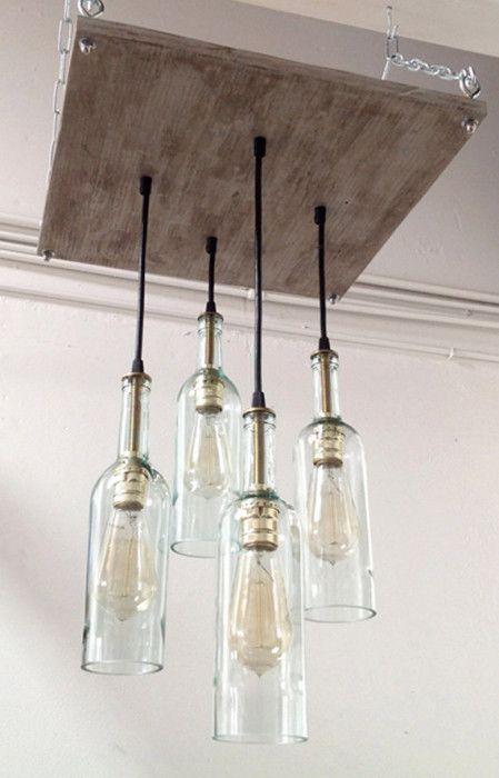 20 Bright Ideas Diy Wine Beer Bottle Chandeliers