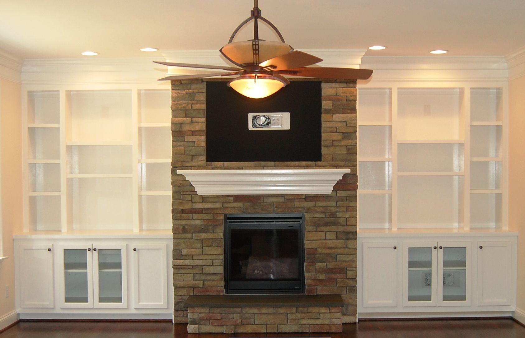Shelves Around Fireplace On Pinterest