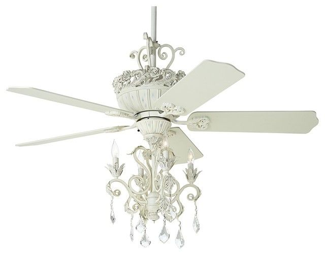 Superb White Chandelier Ceiling Fan