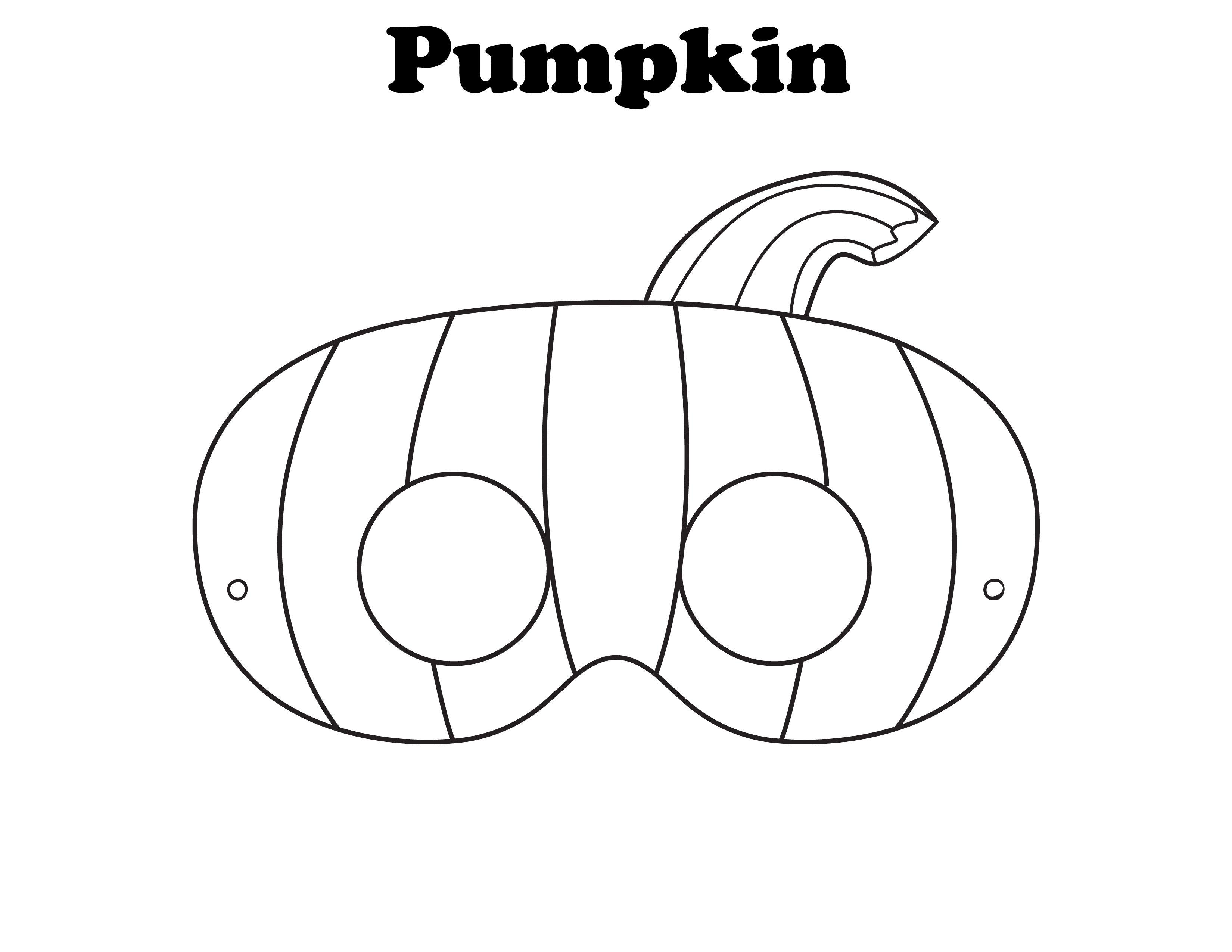 Free Printable Pumpkin Mask Craftdiaries
